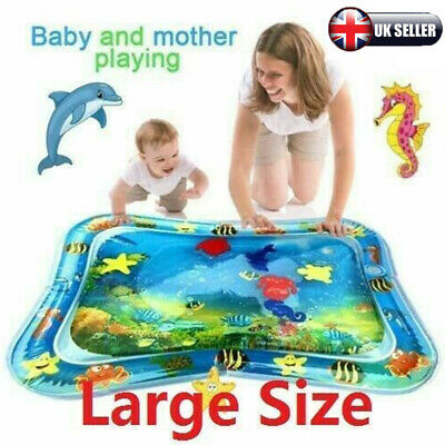 Inflatable Water Mat For Baby Infant Toddlers Mattress Splash Play Mat UK