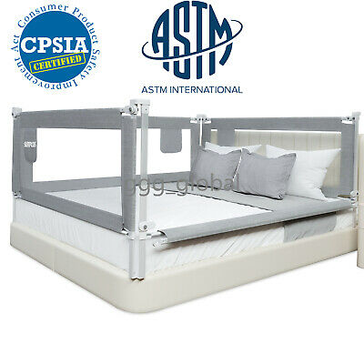 607080Extra Long Baby Bed Rail Guard with Y-Strap for Kids Twin,Double,Full Size Queen /& King Mattress MBQMBSS Bed Rails for Toddlers 60 x 30 Inch Gray