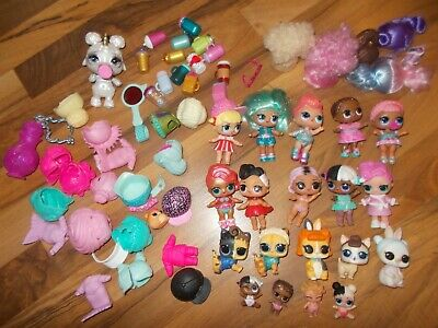 LOL Bigger Surprise Doll Secret Agent Glitter Outfit Wigs LOT