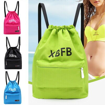 Girls Boys Kids School Drawstring Book Bag Sport Gym Swim Bags Dance Backpacks