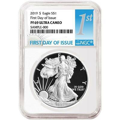 2019-S Proof $1 American Silver Eagle NGC PF69UC FDI First Label
