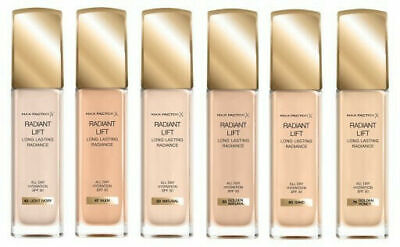 MAX FACTOR Radiant Lift All Day Hydration 30 ml. SPF30 Many Shades Brand New