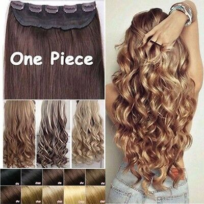 Real thick half Full Head Clip In Hair Extensions Curly Wavy Straight Hair kcews