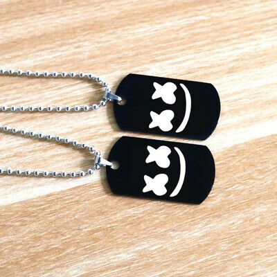 Canyon Marshmello DJ Pendant Necklace Stainless Steel Engraved Souvenir Jewelry