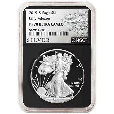 2019-S Proof $1 American Silver Eagle NGC PF70UC ALS ER Label Retro Core