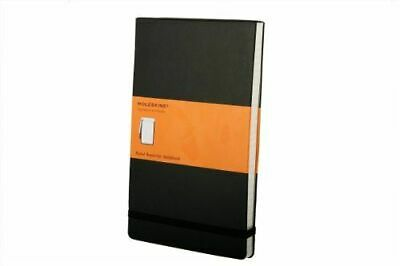Large Reporter Ruled Notebook Black Moleskine Notebook / Blank Book NEW