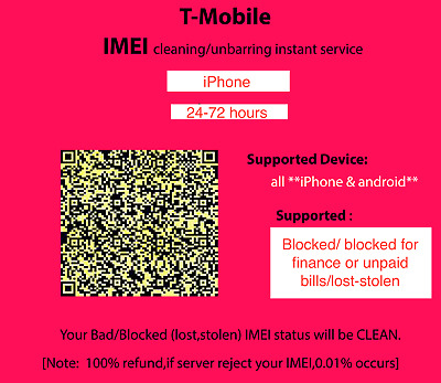 USA T-Mobile Block cleaning unblock Premium service All support 15 days service