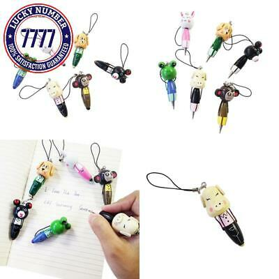 30 Pcs/Lot Mini Cute Cartoon Animal Wooden  Pendant Ball Point Pen For Kids Birt