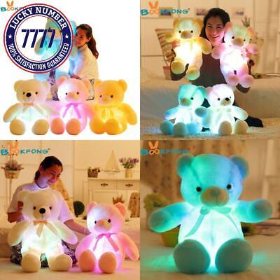 Colorful Plush Toy BOOKFONG Light Up LED Teddy Bear Stuffed Animals  Unique ☆@