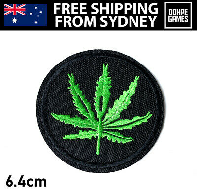 Marijuana Weed Leaf Cannabis Patch Smoke Embroidery Cloth Patches Badge Iron Sew