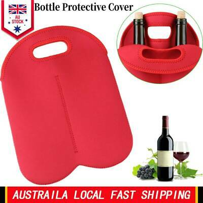 1PCS Double Bottle Wine Beer Cooler Insulated Neoprene Tote Bag Carrier Bag