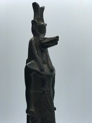 EGYPT EGYPTIAN ANTIQUES Sobek Goddesses STATUE Carved STONE Old Kingdom BC