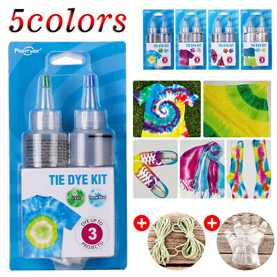 5 Color Tulip One Step Tie Dye Kit Vibrant Fabric Textile Permanent Paint Colour
