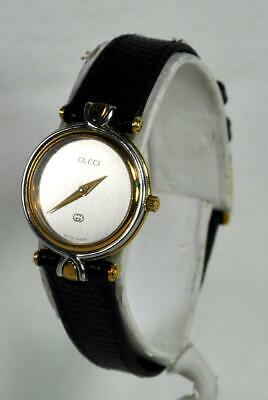 3d614839d Vintage Gucci 4500L Ladies Wristwatch Black Dial 18K Gold Plated New Battery