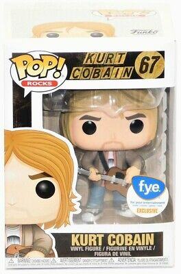 Funko Pop FYE Rocks Kurt Cobain #67 Kurt Cobain (Tan Sweater) IN HAND