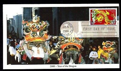 2000 #3370 33c Chinese New Year, Year of Dragon Mystic cachet FDC