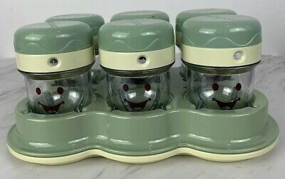 Baby Bullet Date Dial Storage 9 Cups w Lids & Tray Replacement Parts