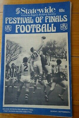 1983 FINALS VFA FOOTBALL RECORDS - 2ND SEMI FINAL - PRESTON v GEELONG WEST