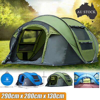 Instant Open 4-5 Person Camping Tent Waterproof Family Backpacking Hiking Tent