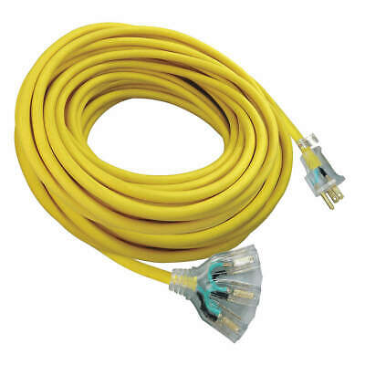 GRAINGER APPROVED Extension Cord,100 ft.,12/3,15A,SJTW, 9AD35ID