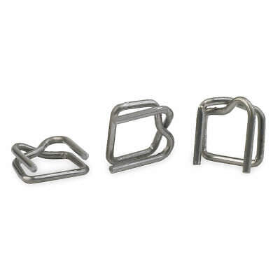 GRAINGER APPROVED Steel Strapping Buckle,Regular Duty,PK1000, 2CXP1