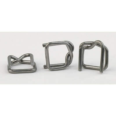 GRAINGER APPROVED Steel Strapping Buckle,Regular Duty,PK1000, 2CXP2
