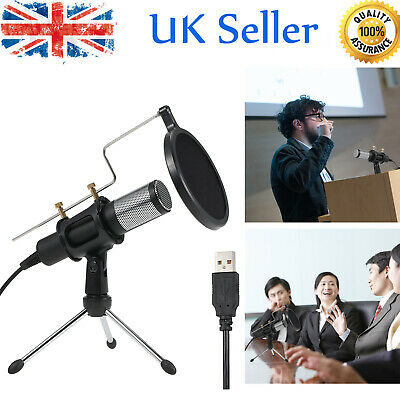 Studio Condenser Microphone USB Recording Podcast MIC with Stand Dual-layer Z8D1