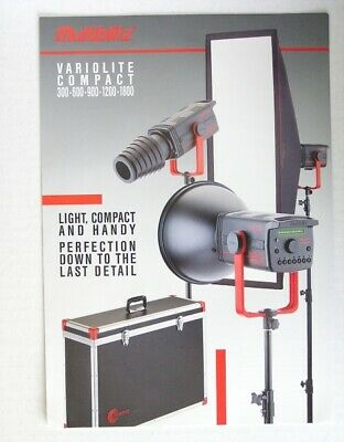 Multiblitz Variolite Compact 300 600 900 1200 1800Electronic Flash Catalog Pages