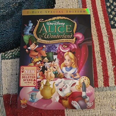 Walt Disney Alice In Wonderland 2 Disc Special Edition DVD with Slipcover