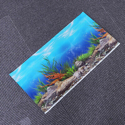 1Pcs Aquarium Background Poster Fish Tank Wall Decorative Backdrop Pictures