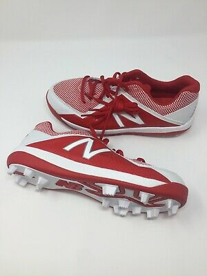 New Balance J4040v4 Red Youth Low Cut Baseball Cleats Size 7