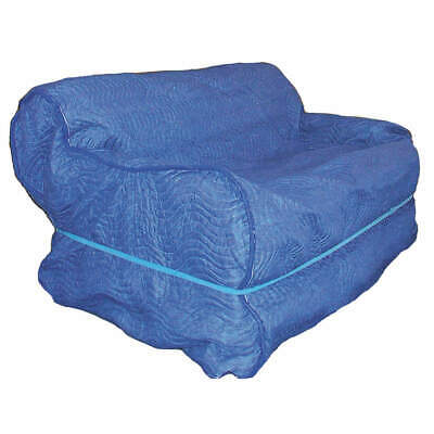 GRAINGER  Cotton Poly Blend Furniture Cover,37 In W x 109 In L,Blue, 4LGK2, Blue