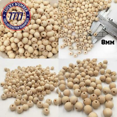 50-100Pcs Natural Ball Wood Spacer Beads 6-20Mm For Charm Bracelet Wholesale Bab