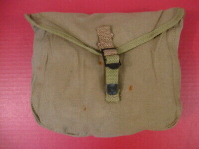 WWII Era US Army M1928 Haversack Meat Can or Mess Kit Pouch - Khaki - Nice #1