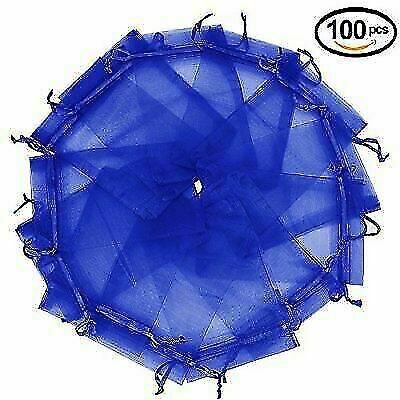 100Pcs Organza Gift Bags Jewellery Candy Packing Pouches Wedding Party Favour
