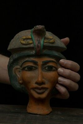 Ancient EGYPTIAN Antiques EGYPT STATUE KING AKHENATEN Mask Carved Stone 1336, BC