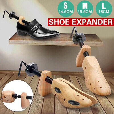 AU 2-Way Wooden Shoes Stretcher Expander Shoe Tree Unisex Bunion Plugs