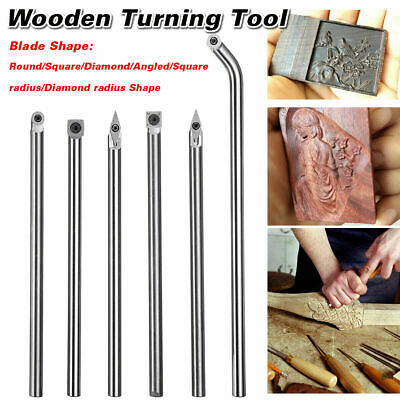 Wood Turning Tool Carbide Tip Chisel Square/Round Insert DIY Lathe Rotary Cutter