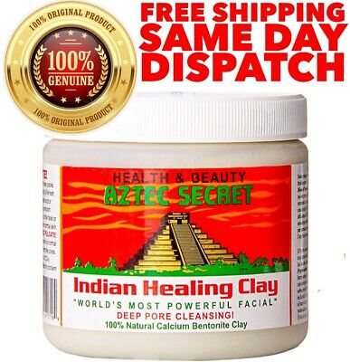 AZTEC SECRET Indian Healing Clay Mask Deep Pore Cleansing Facial Mask 1Lb | 454g
