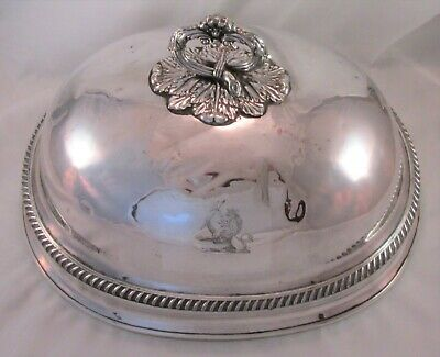 A Fine Old Sheffield Plate Meat Dome - c1830 - Creswick - Lion Crest