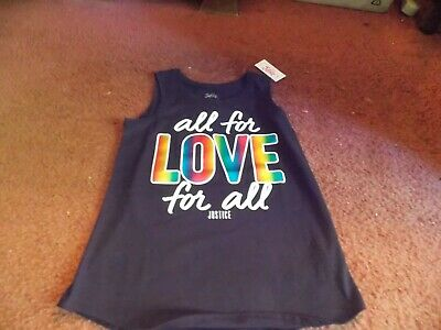 justice - girls size 8  All For Love Foil Graphic Tank--nwt