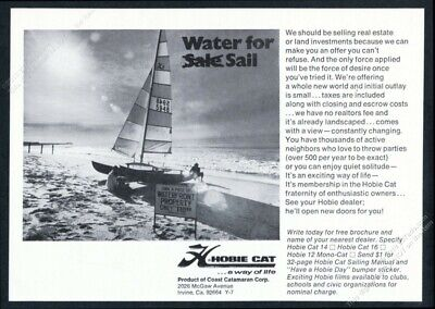 1973 HOBIE CAT 10 Sales Brochure - $24 99 | PicClick