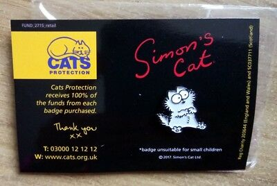 Pin Badge Simons Cat - Grey Kitten (Cats Protection Charity Listing)