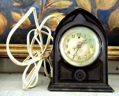 antique DECO TELECHRON~BAKELITE CLOCK ~WORKS