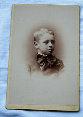 Cabinet photo - Portrait of a little boy - Rochester NY
