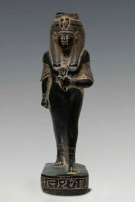 ANCIENT EGYPTE GYPTIAN STATUE Antique QUEEN Nakhtmin Goddess carved STONE BC