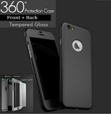 For iPhone Plus/XS/XR 6/7/8 360 Ultra Thin Luxury Shockproof Hybrid Cover Case