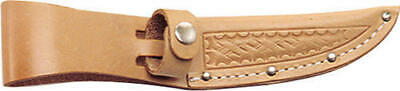 "Sheath SH207 Knife Sheath 4 Fits Up To 4"" Blade Basketweave Leather Natural"