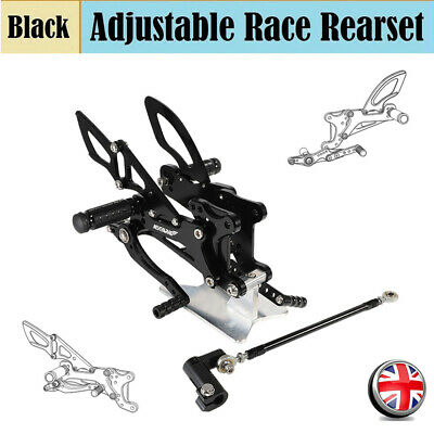 For Yamaha YZF R1 2007 2008 Rear Sets Rearsets Foot Pegs Footrests Adjustable UK