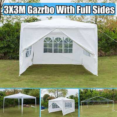 3x3M Gazebo Garden Tent Canopy Party Marquee Outdoor Patio Shelter - White